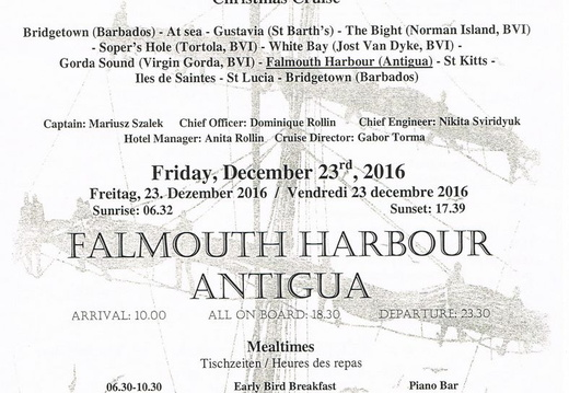 royal clipper bvi christmas 2016 antigua 000 daily activities dec 23rd pg1