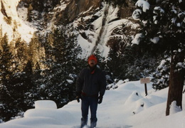 yosemite ernie on snowy trail