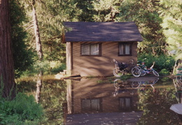 yosemite flooded cabin