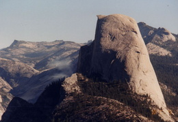 yosemite half dome and smoke from forest fires