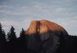 yosemite half dome at sunset 2