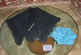 crochet 0024 shawl and hooks