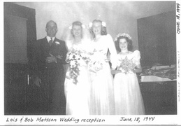 bob and lois mattson wedding 1944 1