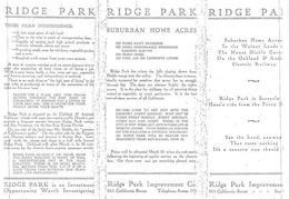 ridge park sales brochure 1912 1